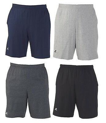 """Russell Athletic - Men's S-XL 2XL 3XL, Cotton Gym Shorts 10"""" Inseam with Pockets"""