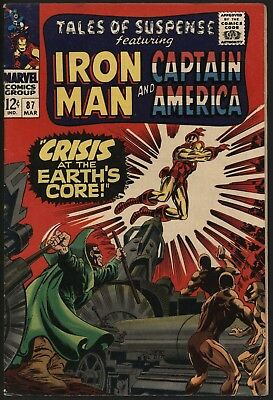 Tales Of Suspense #87 Glossy Cents Copy Nice Off White Pgs Iron Man Vs Mole Man