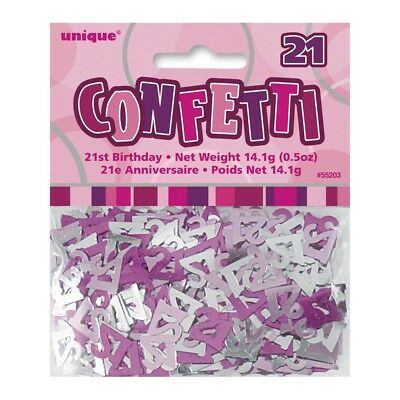 Glitz Pink And Silver 21St Birthday Party Decorations Table Scatters Confetti