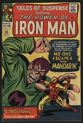 Tales Of Suspense #55, Jul 1964. Great Mandarin Cover, Off White/white Pages!