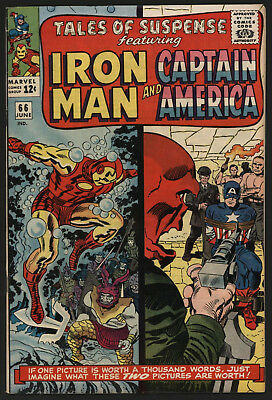 Tales Of Suspense #66, Jun 1965. Glossy Cents Copy, Off White To White Pages! .