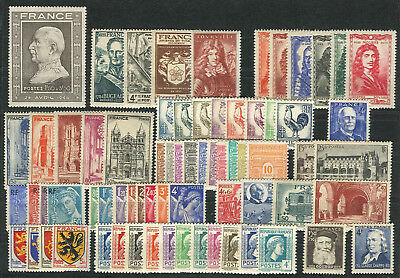 Lot N°7228 France Année complète 1944 Neuf ** LUXE