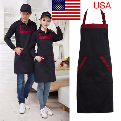 Man Women Waist Apron with Pocket Catering Chef Waiter Long Waterproof USA