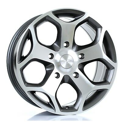 18 inch Viper Alloy Wheels GUNMETAL POLISHED Ford Transit Custom Van mk