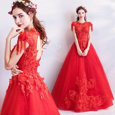 HOT Women Bridesmaid Formal Wedding Long Evening Party Prom Gown Cocktail Dress