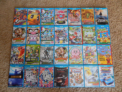 Nintendo Wii U Games! You Choose from Large Selection! Many Titles! Mario, Zelda