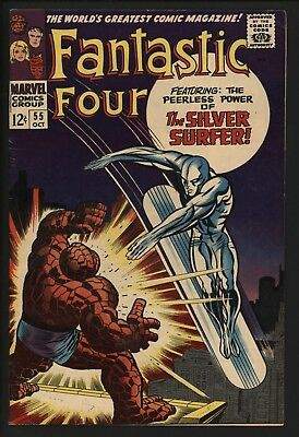 Fantastic Four #55 Thing Vs Silver Surfer! Very Glossy Cents Great Page Quality