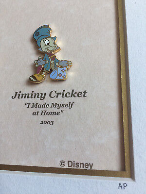 A Decade of Dreams Framed Jiminy Cricket Made Myself At Home Pin Artist Proof