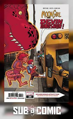 MOON GIRL AND DEVIL DINOSAUR #34 (MARVEL 2018 1st Print) COMIC