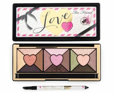 Too Faced Love Palette Full size nwob eyeshadow Eyeliner Authentic Shimmer Blush