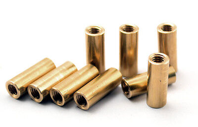 3pcs Knife Handle Brass Screw M3.5 Round Coupling Nuts Connector DIY 13mm