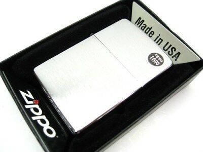 Zippo Full Size Brushed Chrome Classic Windproof Lighter 200