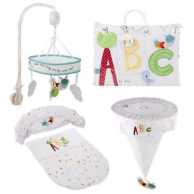 Toys R Us Unisex New Baby Nursery Cot Moses Basket Bedding Blanket Set Boy Girl