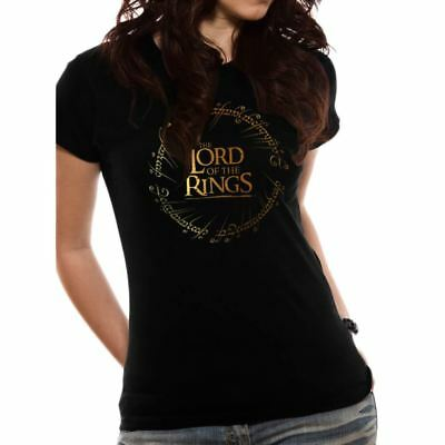 Women's The Lord of the Rings Logo Black T-Shirt: Small