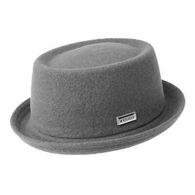 8901c10433d Kangol Herren Hut Wool Mowbray Pork Pie Wollgemisch Musiker hat Slate Grey  grau