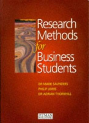 Research Methods for Business Students,Mark N.K. Saunders, Phi ,.9780273620174