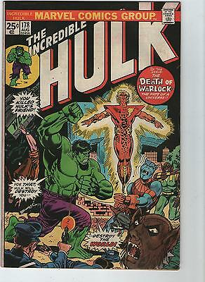 Incredible Hulk # 178 - Death / Rebirth  Of Adam Warlock ( Nd - 1974 )