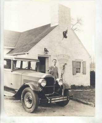 1928 Packard Six Sedan Norman Rockwell & His Home ORIGINAL Factory Photo wz5417