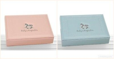 Baby Girl Pink Boy Blue Keepsake Memory Box Christening Gift