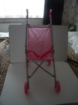 Pink  Dolls  Fold Up Buggy Pushchair/Fit Baby Born Or Annabell