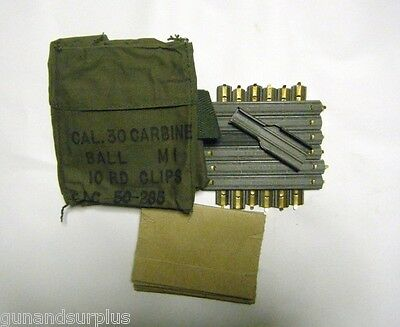 M1 Carbine Repack Kit New Style 12 Stripper Clips 30 caliber Bandolier .30