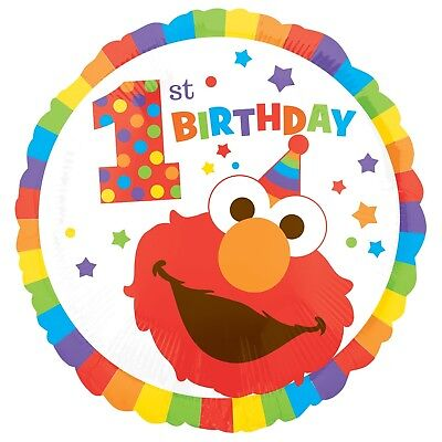 Elmo Turns One Sesame Street 1St First Birthday Helium Foil Balloon
