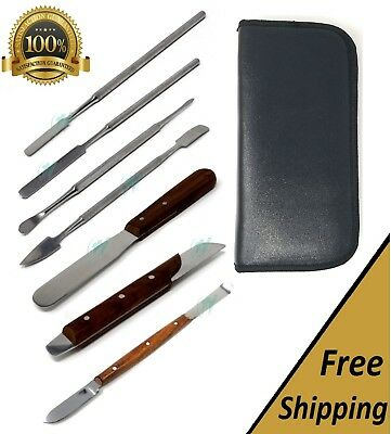 Lab Stainless Steel Spatula spoon (a set of 7 pieces) New
