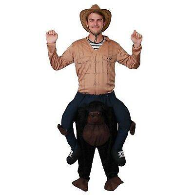 Adult Carry Me Gorilla Costume One Size Jungle Safari Zoo Party