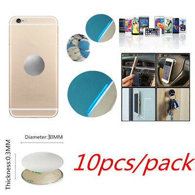 10x Round Metal Plate Magnetic Pad For Magnet Car Phone Holder Stand Mount