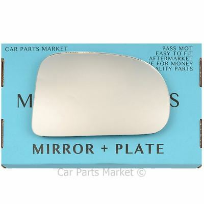 For Hyundai Atos Atoz Amica 97-08 Left passenger wing mirror glass with plate
