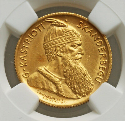 Ngc-Ms64 1926R Albania 20Francs Gold Better Date
