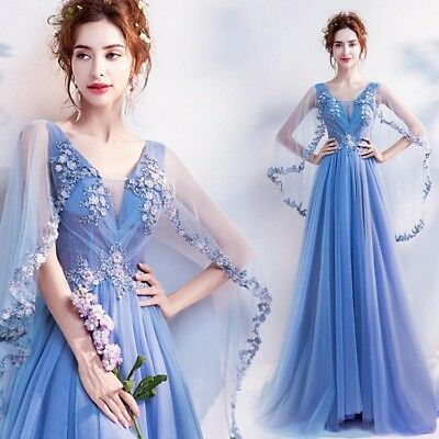 HOT Women Formal Bridesmaid Wedding Long Evening Party Cocktail Dress Prom Gown