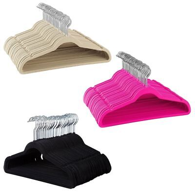 Non Slip Velvet Suit Hangers 360 Swivel Hook For Shirts Pants Dresses Ultra Slim