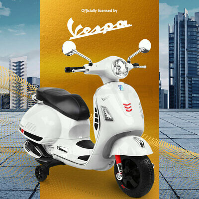VESPA Kids Ride On Motorcycle Motorbike Car Licensed Scooter Toys White