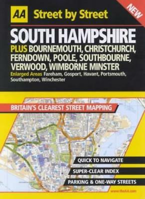 AA Street by Street Hampshire, South,- 9780749526252