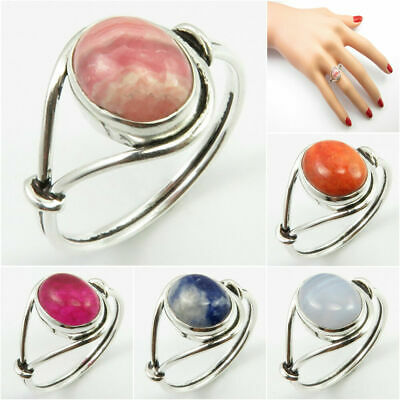 925 STERLING Silver BEST-SELLER Ring ! RHODOCHROSITE & Many Stones Size 4.5 - 12