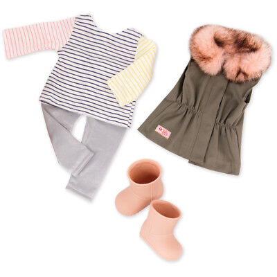 Our Generation Fun Fur Fall Doll Outfit - 30314Z - NEW
