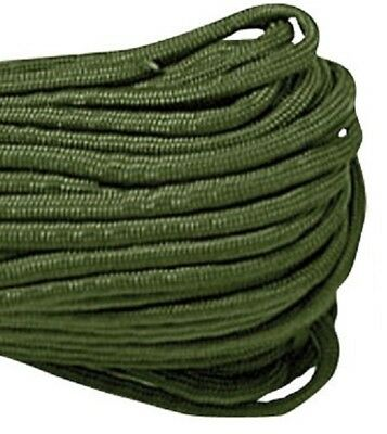 USA 100' ft OLIVE DRAB 550lb Paracord Parachute Cord Mil Spec Type III 7 Strand