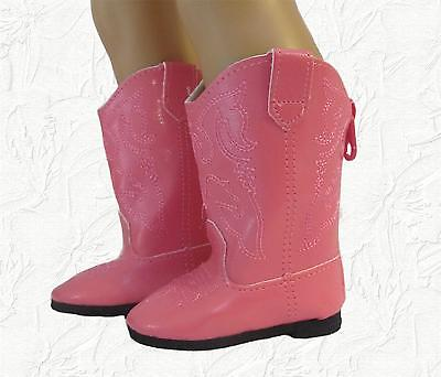 Doll Clothes Boots Cowboy Hot Pink Fit 18 inch American Girl