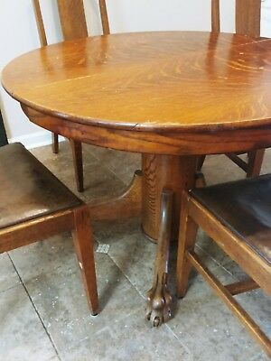 Antique claw foot dining table