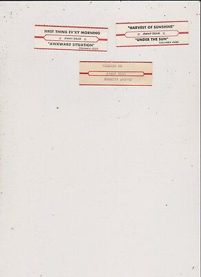 3 Different Jimmy Dean Title Strips-