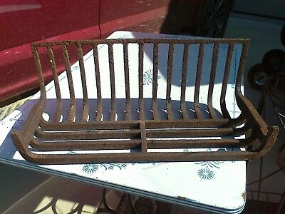 Antique Late 1800's Fireplace Log Holder grate cast iron w/Hook Victorian Home