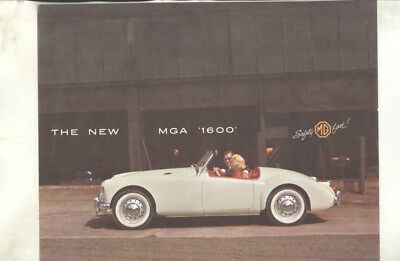 1960 MG US MGA 1600 Brochure wz6162