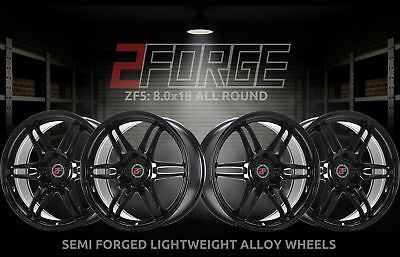 18 inch 2FORGE ZF5 5x115 ET15 TO 45 8J BLACK alloy wheels  Cadillac ATS Cadillac