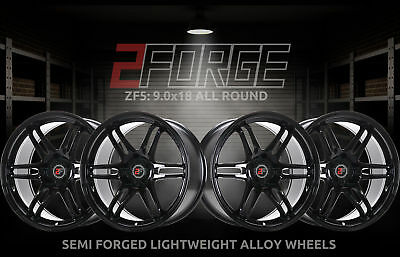 18 inch 2FORGE ZF5 5x112 ET0 TO 45 9J BLACK alloy wheels  Audi A3 Audi A3 Audi A