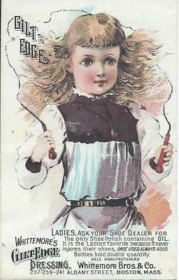 Whittemore's Bros. & Co. Guilt Edge Dressing. Victorian Trade Card.