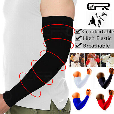 NEW Compression Sports Arm Sleeve Solid Color Baseball Football Basketball HG