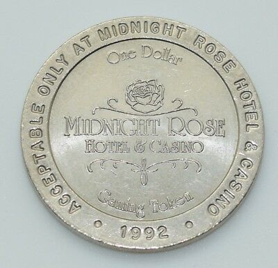 Casino $1 Token - Midnight Rose Hotel Cripple Creek Colorado 1992