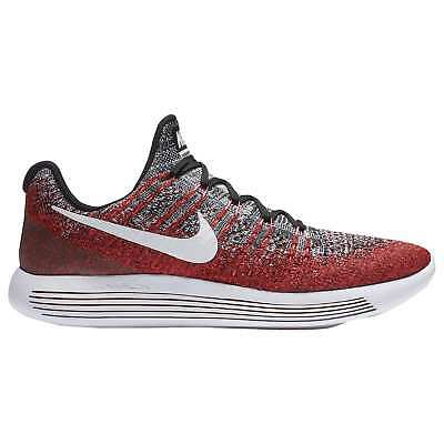 sports shoes ddf14 455f1 Nike Lunarepic Low Flyknit 2 Mens 863779-005 Black Red Running Shoes Size  10.5