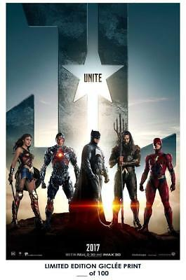 """18"""" X 12""""  Giclee Art Print Poster Justice League 02"""